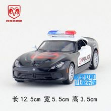 Brand New KT 1/36 Scale USA Dodge Viper Police Edition Diecast Metal Pull Back Car Model Toy For Gift/Collection/Kids(China)