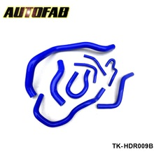 AUTOFAB -Racing Turbo Intercooler Radiator pipping silicone hose Kit For Honda CIVIC EG EK 92-00 (8pcs) AF-HDR009B