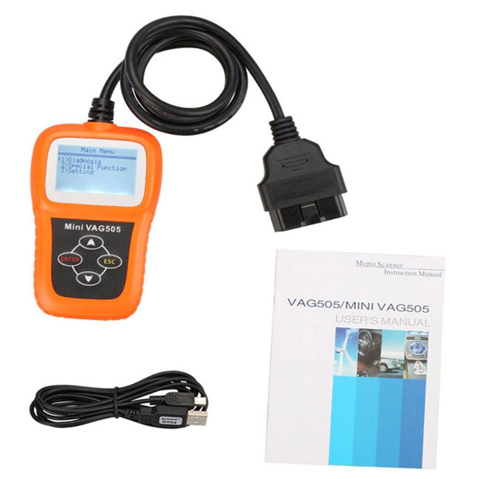 Mini VAG505 OBD2 OBDII Car Styling Code Reader Scan Tool VAG505 Auto Diagnostic Tool Super Professional Scanner (3)