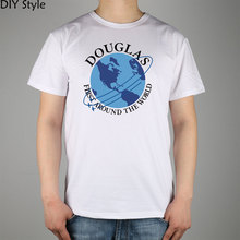 Douglas Aircraft Company Airline t-shirt Cotton Lycra Top 10844 Fashion Brand T Shirt Men New Diy Style High Quality