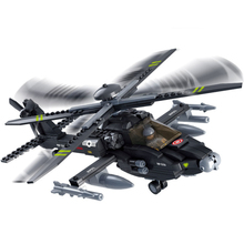 DIY Mini Building Nano blocks,children gifts,Educational toys,model,0511,AH - 64 apache helicopter,military series,Sluban Blocks