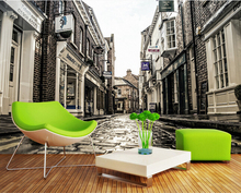 Custom photo wallpaper, nostalgic city street mural for the sitting room the bedroom TV wall textile papel DE parede