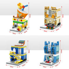 sembo block moc lepin cities mini street view Jewelry shop,Mobile phone shop,Milk shop,Home store bela bricks toys for kid gift
