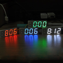 DS3231 Electronic DIY 0.8inch Dot Matrix LED Clock Kit Digital Display Green Red Blue White Light 5V Mciro USB Car Clock