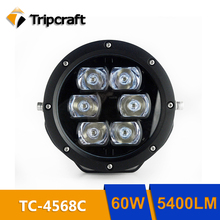60W 5400LM LED CAR WORK LIGHT ROUND DESIGN CAR LED LIGHT OFFROAD TRUCK ATV SUV 4X4 Flood Spot Beam High Power Off Road for SUV(China)