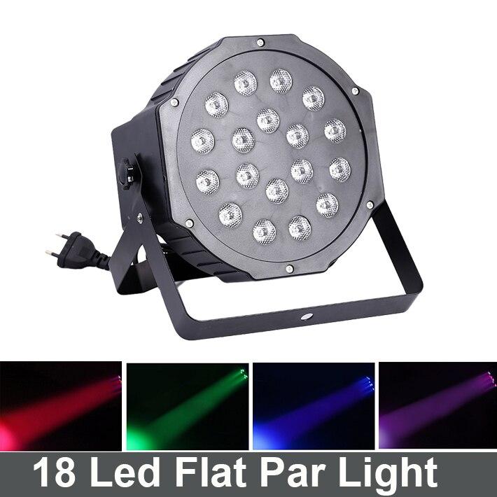 18*3W Led Stage Light High Power RGB Professional Par Wedd Stage&amp;DJ Lighting Auto Sound DMX512 Master-Slave Led Flat par light<br>