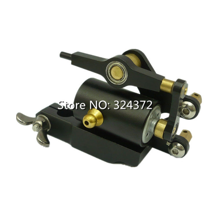 Top 2016 Black Professional Rotary Tattoo Machine for Shader and Liner High quality Tattoo Gun Quiet Strong Power Free Ship &amp;T<br>