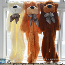 Super Affordable 200CM 3 Colors Giant Teddy Bear Skin Coat Soft Adult Coat Plush Toys Friends Kids Birthday Christmas DIY Gift(China)