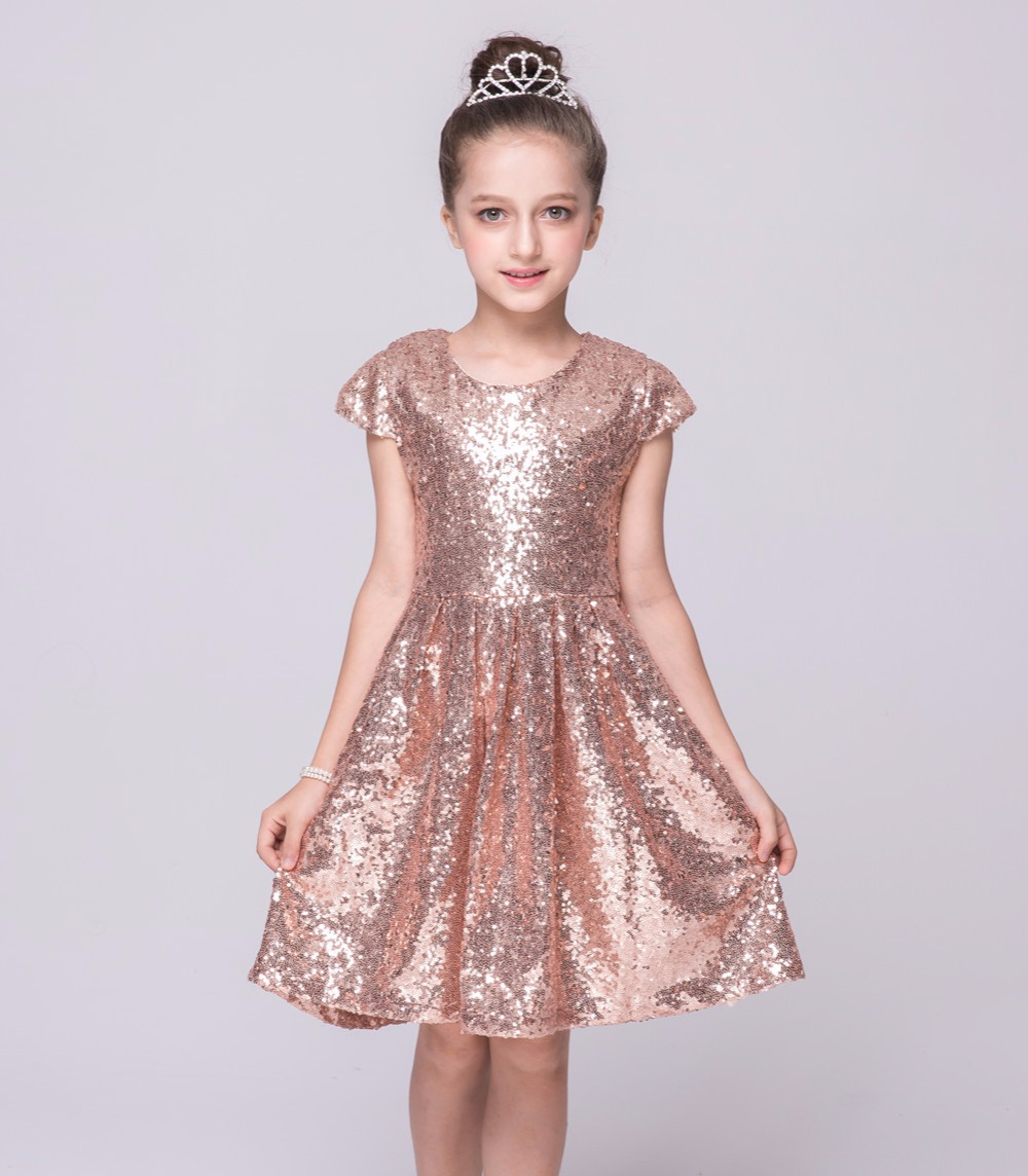 Baby Girls Summer Dress 2017 New Brand Kids Seqined Party Dress for Girls Children Performance Fashion Clothes Dress<br><br>Aliexpress