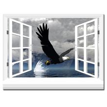 3d effective windows eagle Wall Painting pictures Home Decorative Art Picture Paint on Canvas Prints wall painting no framed
