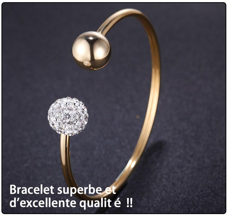 Gold Bracelets Bangles Stainless Steel (6)
