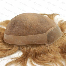 Frontal Remi Hair Piece Toupee Glue Wig Men Mono Lace With Clear Poly In Front Durable Natural Looking H061
