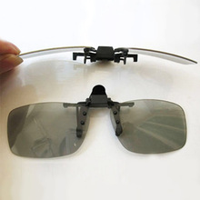 Clip-on Polarized 3D Glasses for Prescription People Watching Passive 3D TVs and RealD 3D Cinema System