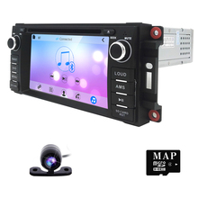 for Dodge Ram Challenger Jeep Wrangler JK Head Unit Single Din 6.2 Touch Screen In dash Radio Receiver with Navigation Bluetooth