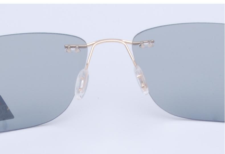 Vazrobe (5s Change Color) Photochromic Sunglasses Men Women Titanium polarized Sun Glasses Chameleon Rimless Anti-glare Driving 10
