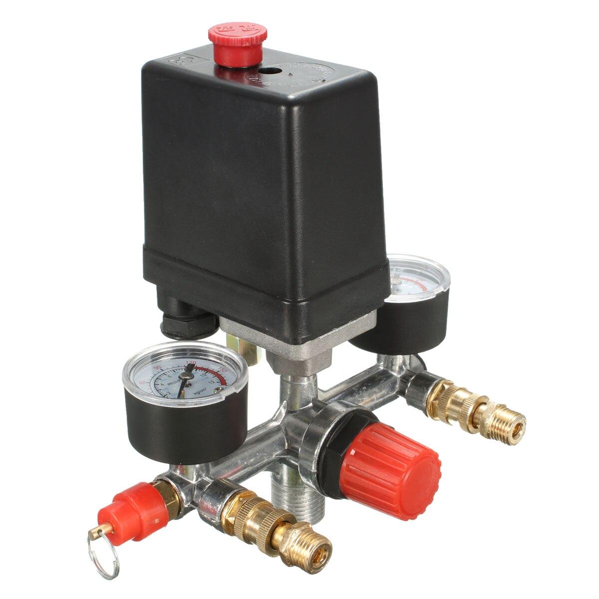 New 90/ /120/psi Air regolatore compressore interruttore di controllo della pressione sollievo calibri