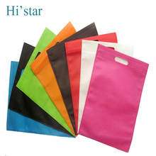 25*30cm 20 pieces/lot Free shipping 50pcs non woven bags with handle Beige color bags with Black dot printing(China)