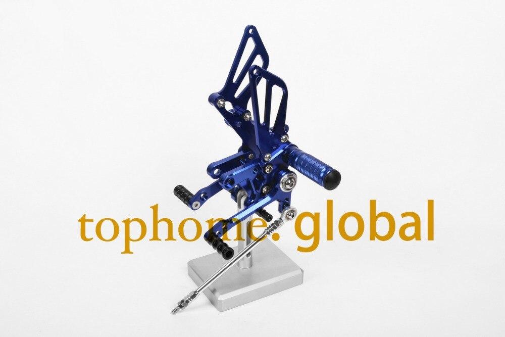For Suzuki GSXR600 1997 - 2005/  GSXR750 1996 - 2005 CNC Rearsets Foot Pegs Rear Set Blue 1998 1999 2000 2001 2002 2003 2004<br><br>Aliexpress