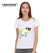 Buy CHRLEISURE Pug 3D Printer T Shirt White Women Tops Cartoon Dog Clothes Poleras Plus Big Size Women Funny T Shirt for $6.35 in AliExpress store