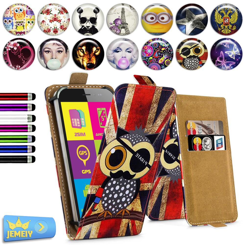 For Explay Vega 4GAme Air Universal High Quality Printed Flip PU Leather Cell Phones Case Cover Middle Size(China)