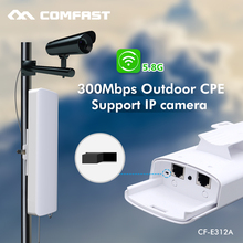COMFAST long range Wireless 300M 5.8G Outdoor Waterproof 2*14dbi Antenna CPE AP Network Wifi Repeater POE Access Point Amplifier