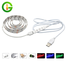 5V USB LED Strip 5050 RGB / White / Warm White / Red / Green / Blue 60LEDs/m 50CM / 1M / 2M Set