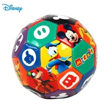 Disney Mickey Mouse Children Soccer Toy Football kid small size 2 Color Football Funny Outdoor Sport Family Game D626-A(China)