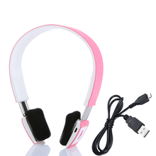 2.4G Wireless Bluetooth V3.0 + EDR Headset Bluetooth Headphone with Mic for iPhone Smartphone Tablet PC Pink