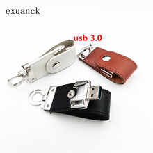 custom logo Leather USB 3.0 4GB 8GB 16GB 32Gb 64GB Flash Drive Memory Thumb Stick Pen Storage U Disk Gift (30pcs freehttp logo)