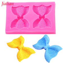 Jialian Bow tie silicone mold chocolate fondant cake decoration Soap baking utensils tools FT-0284