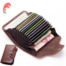 Buy New Genuine Leather Women Men ID Card Holder Card Wallet Purse Credit Card Vintage Bank Business Card Holder Protector Organizer for $4.90 in AliExpress store