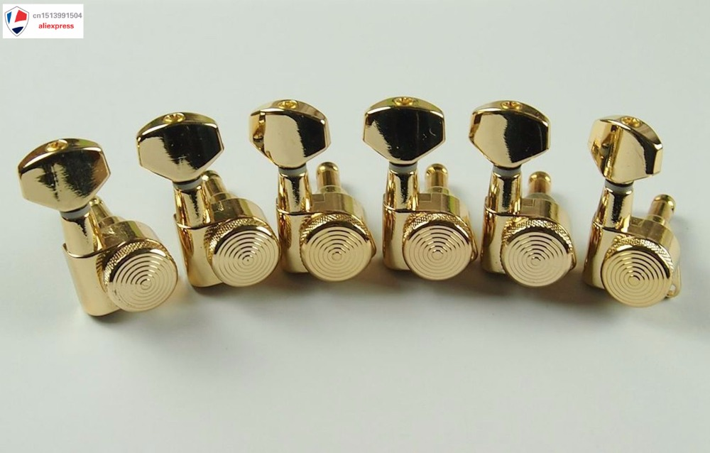 Popular Guitar Tuners 6R Gold Guitar Locking Tuners JN-07 SP Guitar Tuners<br>