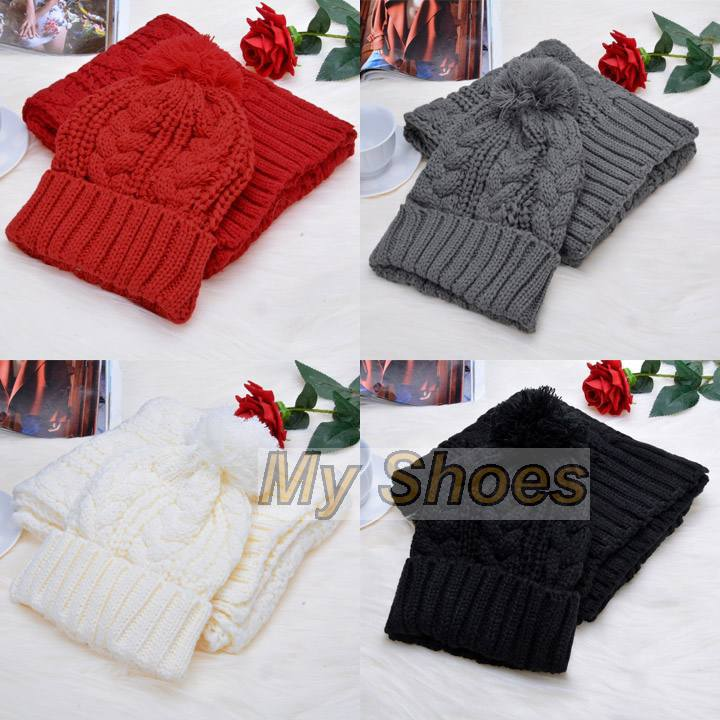 Cheap New Winter Women Scarf Set Hat Scarf Casual Winter Hat Scarf Women Wool Cap Knitted Beanies Free ShippingОдежда и ак�е��уары<br><br><br>Aliexpress