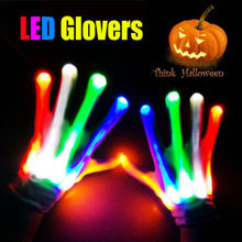 Pudcoco New Colorful LED Flashing Gloves Electro Light Up Christmas Dance Rave Party Fun Halloween Christmas Light Toys Fashion(China)