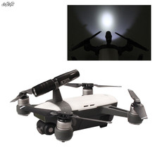 1 Set Top Night Flight LED Light & Base Holder Flying Photography Lamp For DJI Spark Drone Accessories(China)