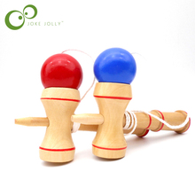 Kids Wooden Kendama Coordinate Ball Japanese Traditional Skillful Juggling Wood Game Ball Bilboquet Skill Educational Toy GYH(China)