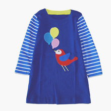 Magic Tadpole 2018 new fashion cotton long sleeve dresses clothes for girls children `s dress(China)