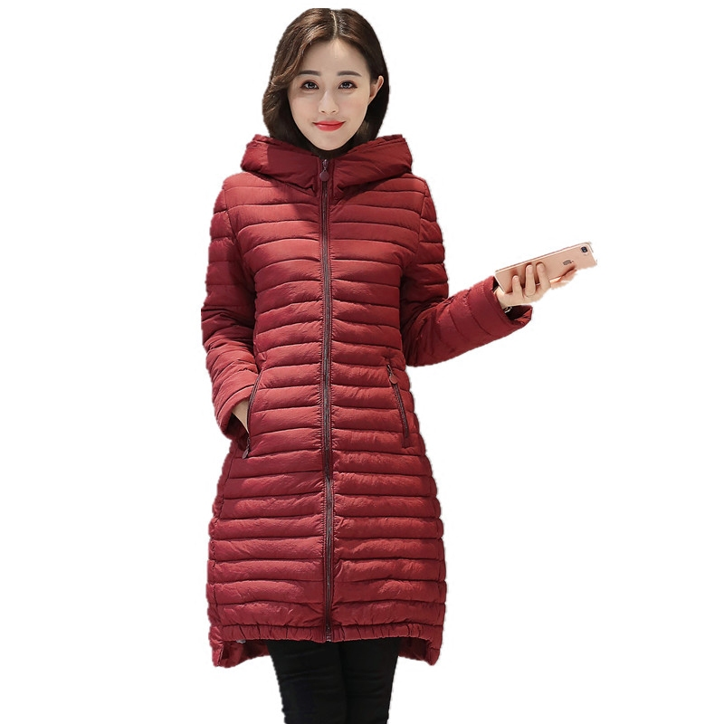 Plus size L-5XL women parkas womens hooded striped warm cotton padded jacket female warm winter coat outerwear 2017 new arrivalÎäåæäà è àêñåññóàðû<br><br>