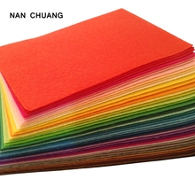 Non Woven Fabric 1mm Thickness Polyester Felt Sheets Of Home Decoration Pattern Bundle For Sewing Dolls Crafts 40pcs 10x15cm(China)