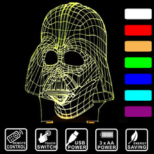 Star Trek Night Light 3D Lamp Darth Vader Gadget LED Lighting Legoe remote control/touch switch USB desk  table lamp  IY80310