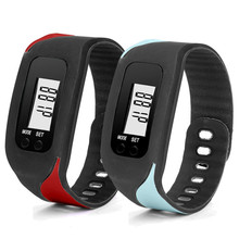 2017 New amazing colorful beautiful colorful Digital LCD Pedometer Run Step Walking Distance Calorie Counter Watch Bracelet /