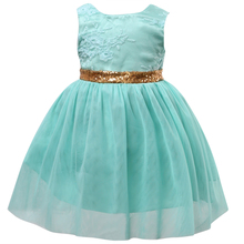 Hot Flower Girl Princess Sequins Dress Toddler Wedding Fancy Sleeveless Party Tutu Dresses 2-7Y