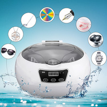 SKYMEN Digital Ultrasonic Cleaner Wash Bath Tank Baskets Watches Dental 600ML 35W Mini Portable Ultrasound Cleaner  US Plug