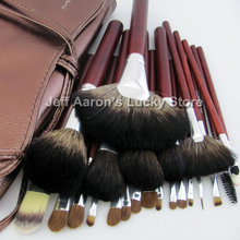 24PCS professional name brand natural hair makeup brushes make up brush set high quality wholesale cosmetics(China)