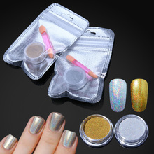 Gold Siver Nail Powder Bling Shinning Mirror Nail Glitter Powder Perfect Holographic Nails Dust Laser Holo Nails Pigment