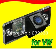 For Sony CCD VW Touareg Tiguan Santana Old Passat Polo Hatchback Skoda Car rear view parking back up reverse car Camera(China)