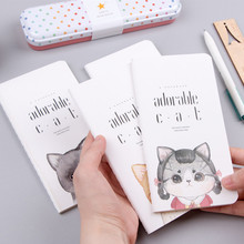 Cute Lovely Kawaii Cartoon Little Adorable Cat Blank Pages Portable Thin Notebook Notepad Diary Book Students Gift School Supply(China)