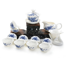 New 14pcs\set bone china kung fu tea sets ceramic tea tools pu er tea cup drinkware with Gaiwan porcelain cup best china gifts