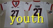 Nike 2017 2016 Youth Georgia Bulldogs Nick Chubb 27 College Boxing Jerseys - Red Size S,M,L,XL(China)