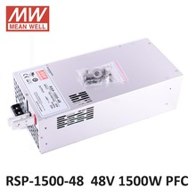 Meanwell 1500W SMPS PFC Function RSP-1500-48 48V DC led power supply 1500W 48V 32A Switching Power Supply Driver for LED Strip(China)